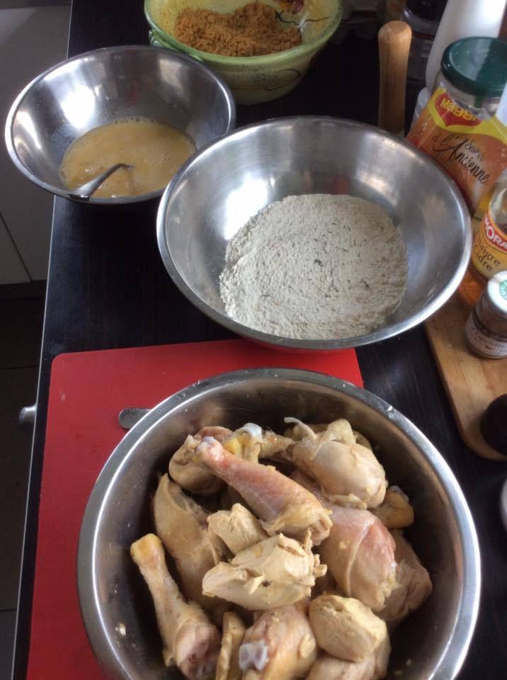 poulet frit au corn flakes