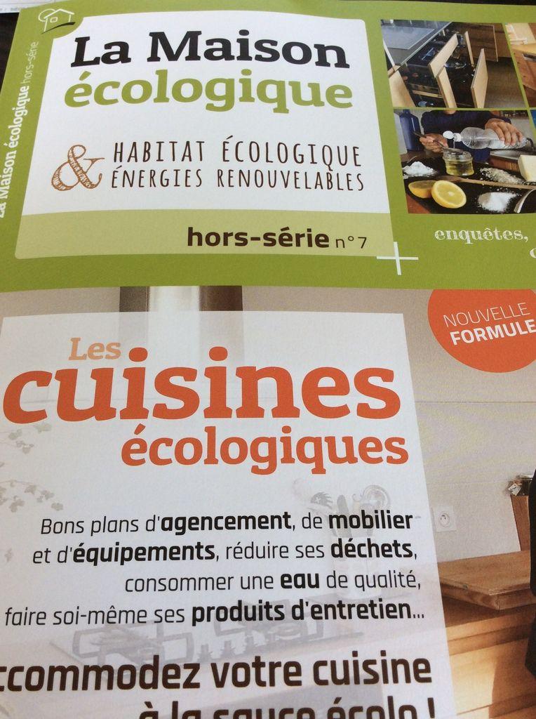 mes recettes dans le dernier numéro de La maison écologique