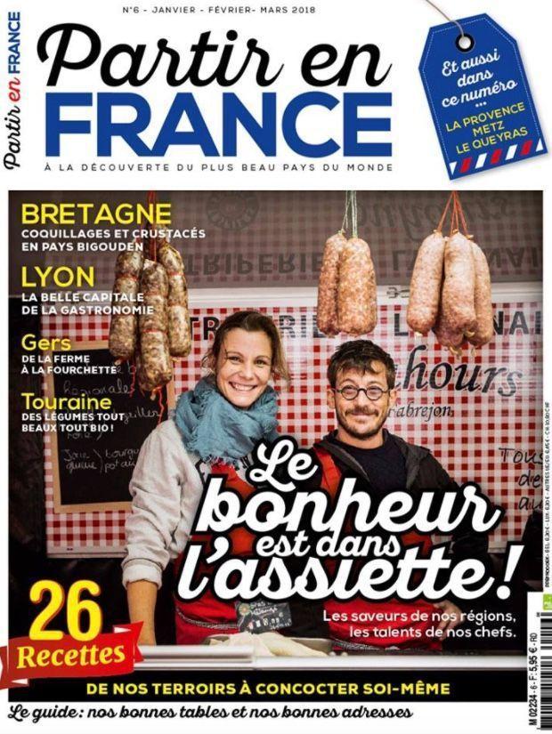 Tiff et Seb Bouhours en couverture du dernier Partir en France