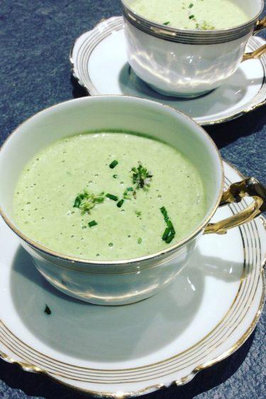 velouté froid de salade au boursin ( recette anti-gaspi )
