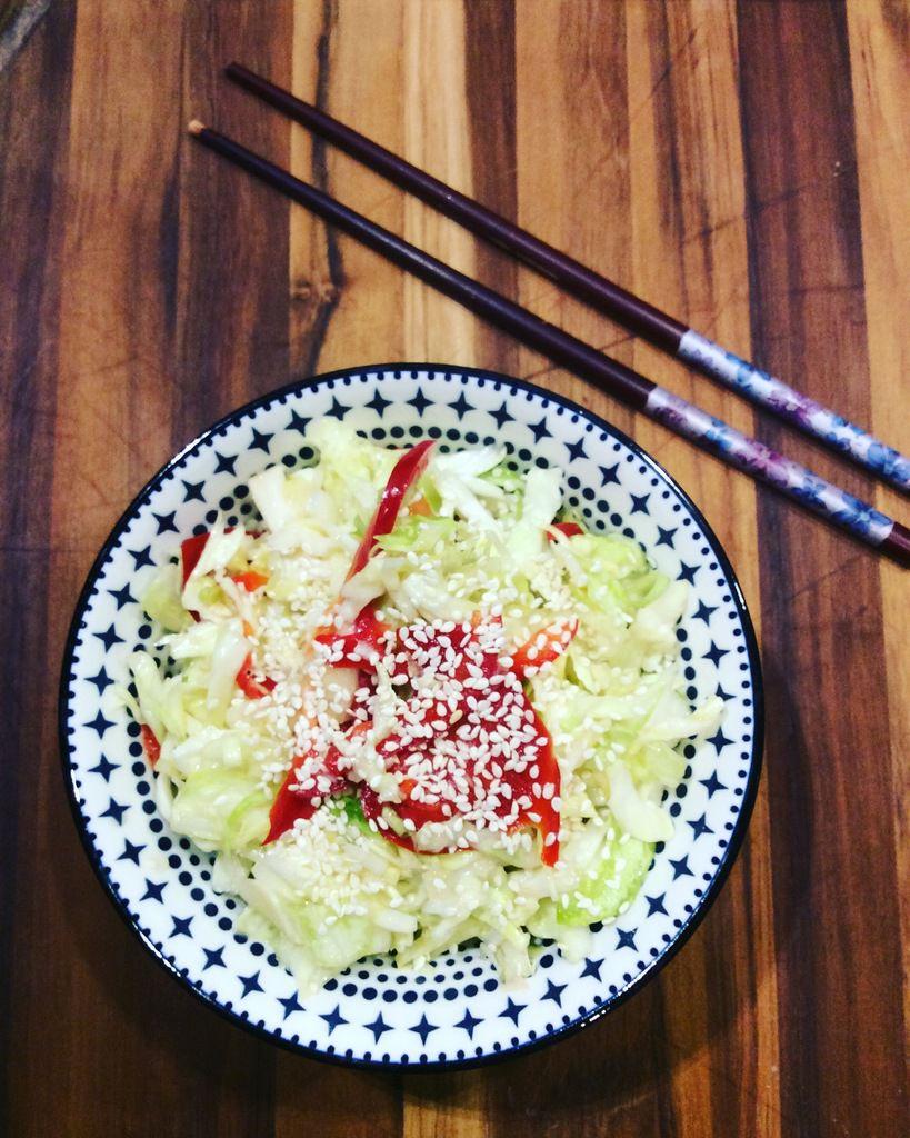 salade de chou à la japonaise