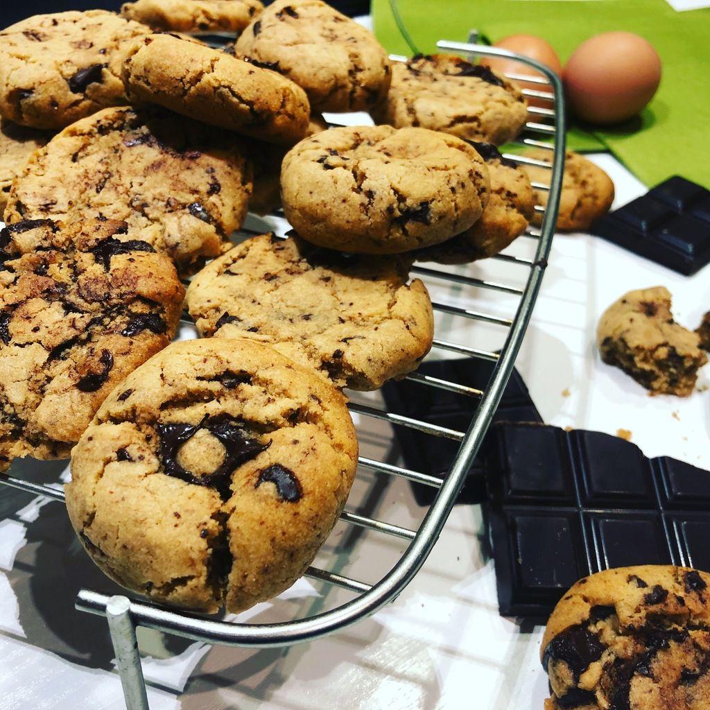 cookies au beurre de cacahouète et pépites de chocolat