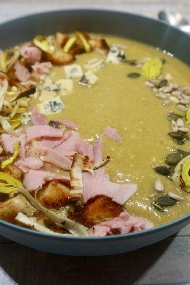 soupe de poireaux aux restes de fromage