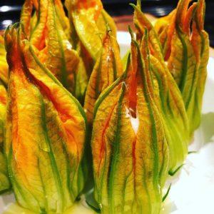 fleurs de courgette farcies à la ricotta
