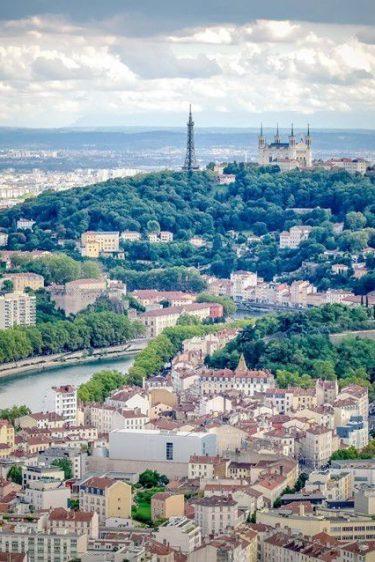 vue de Lyon par Karine Bourgain
