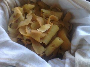 gelée d'épluchures et trognons de pomme