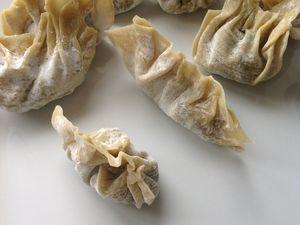 raviolis frits au feuilles de blettes