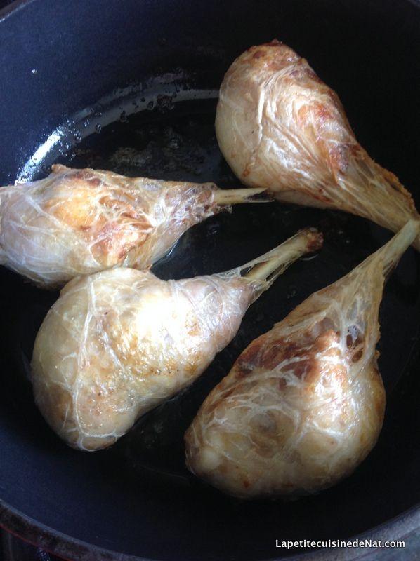 jambonnettes de poulet, farce fine aux cèpes