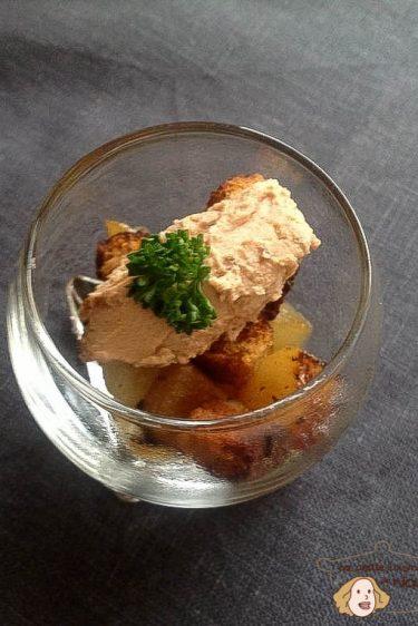 verrine de foie gras aux poires
