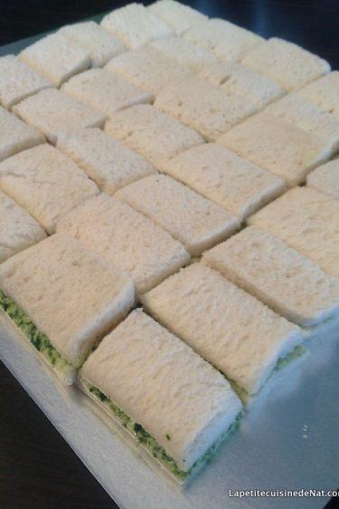 mini sandwich au beurre de cresson ou de fanes de radis