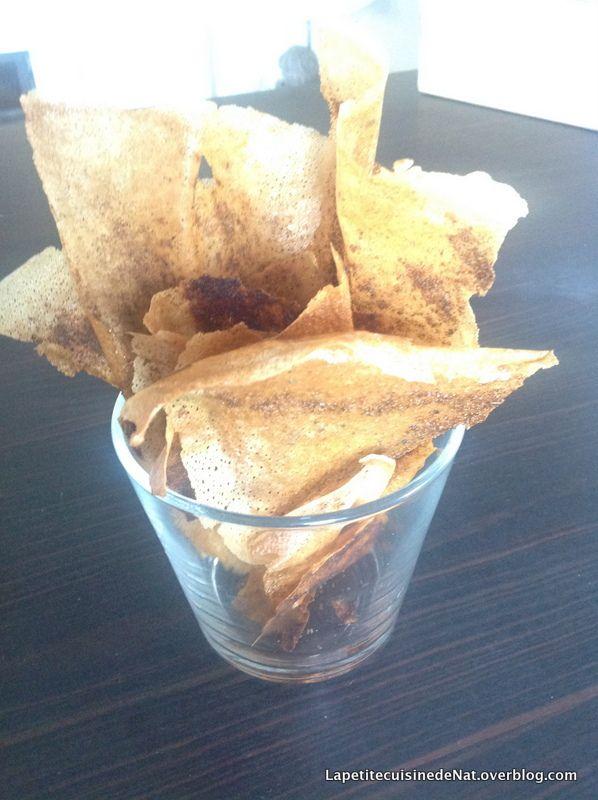 chips de feuilles de brick