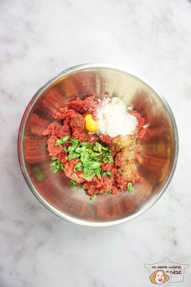 préparation de viande pour hamburger maison