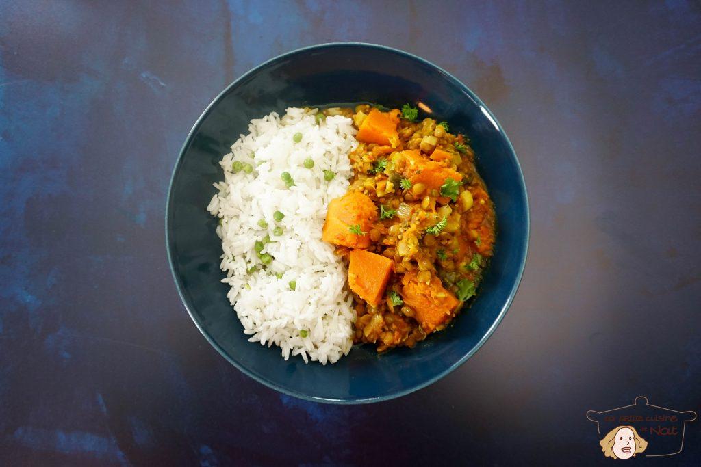Curry de courge, recette vegan