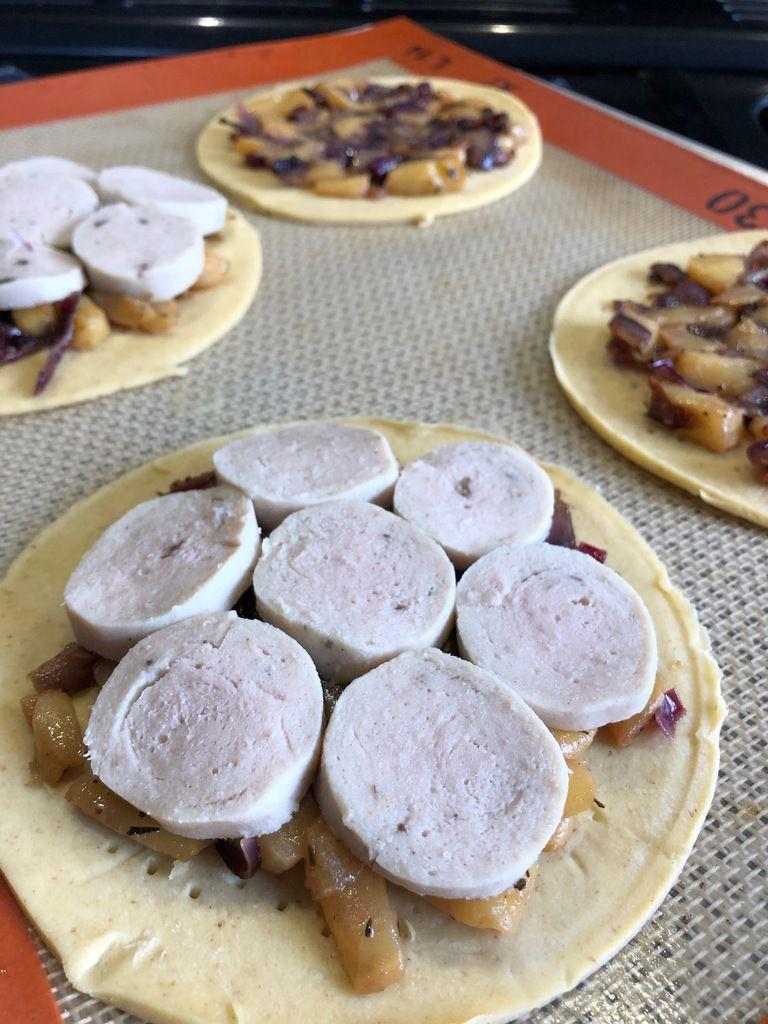 tarte fine aux boudin blanc et aux pommes