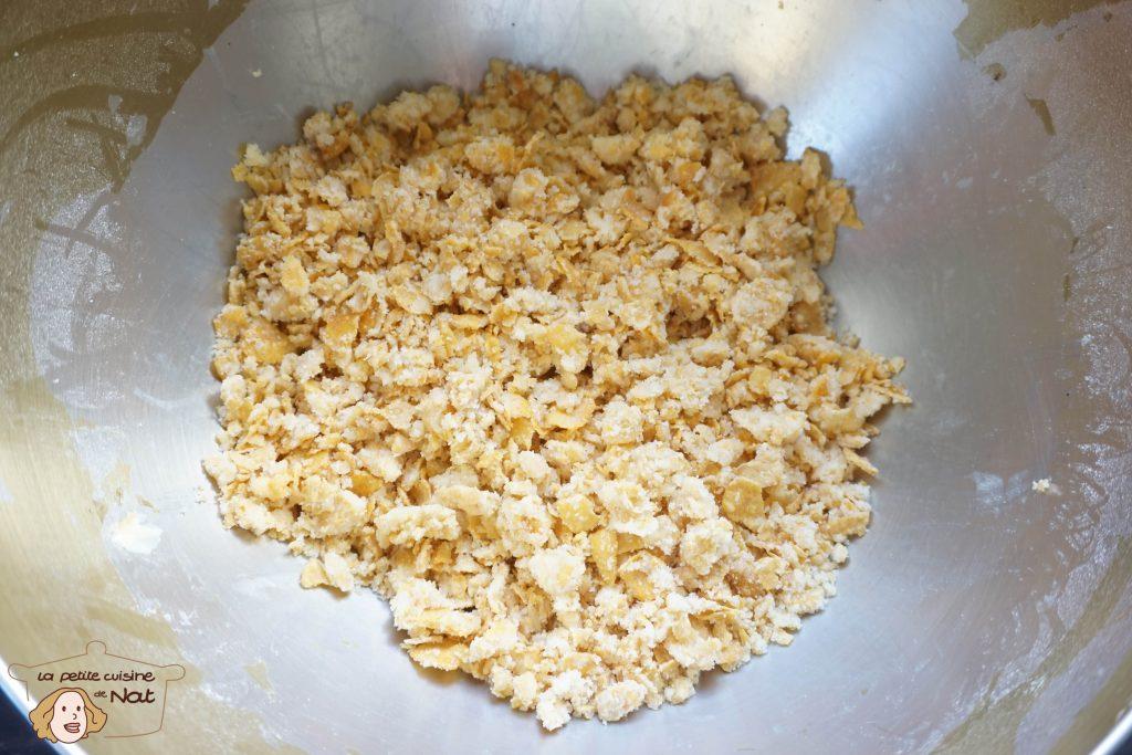 Crumble pommes corn flakes