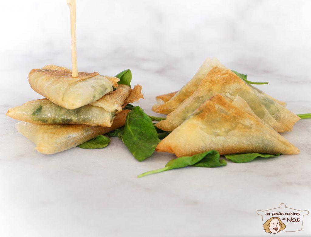 Samoussas épinards fromage