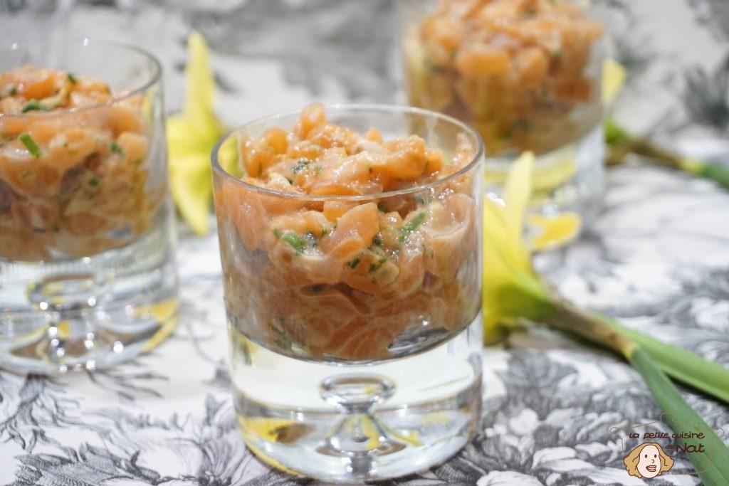 Tartare de saumon à la japonaise