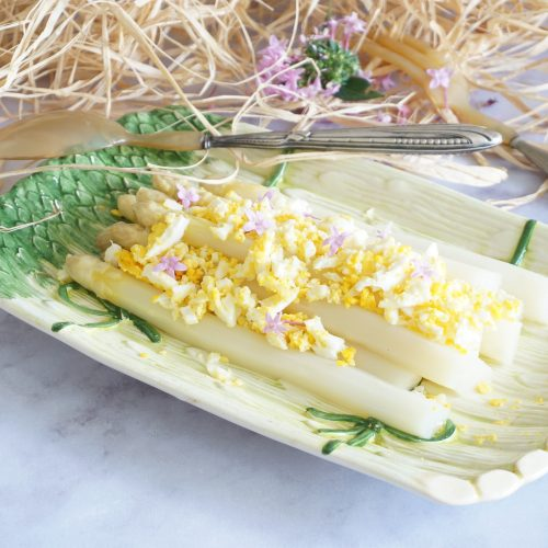 asperges blanches mimosas