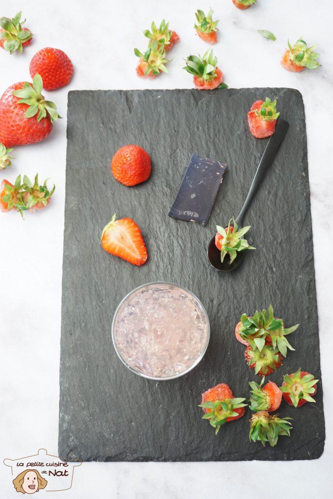 Gelée de queues de fraises