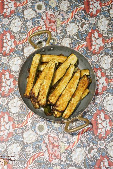 Courgettes au parmesan