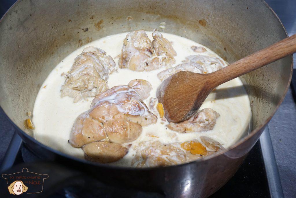 Ris de veau à la crème