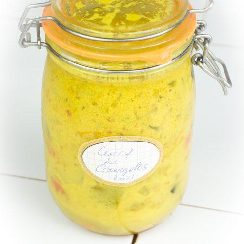 conserve de curry de courgettes