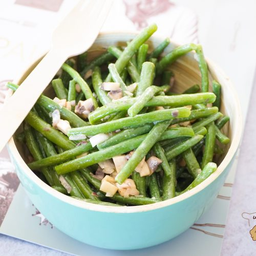 salade de haricots verts croquants