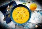 velouté de carottes au curry et à l'orange